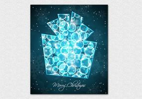 Bokeh Christmas Present Vector Background