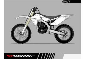 Motocross Bike Vector Template