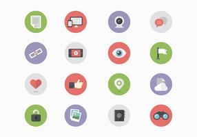 16 sociala medier Ikonvektorer