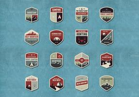 Outdoor en Camping Badge Vectors