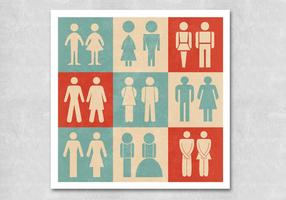 Retro-restroom-sign-vectors