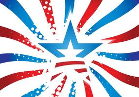 Vecteur starburst des USA