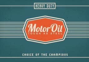 Vintage Motor Oil Bakgrund Vector