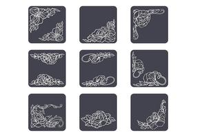 Umrissene Flourish Vector Pack