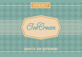 Vintage Ice Cream Vector Background