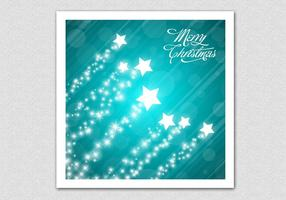 Teal Merry Christmas Star Vector Background
