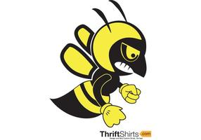 Fighting Bee Vector Mascot