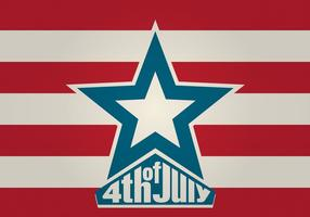 4. Juli Vektor Hintergrund