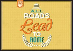 All-roads-lead-to-rome-vector-background