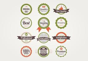 Badges Vector Set