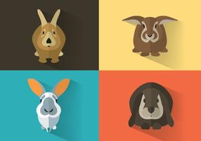 Bunny-vector-set