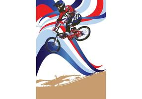 Team USA patriotiska BMX Vector