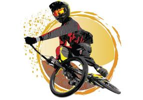 USA BMX Vektor Sonnenuntergang Turndown