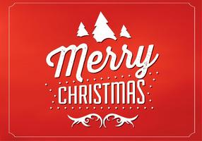 Fondo rojo del vector de la Feliz Navidad