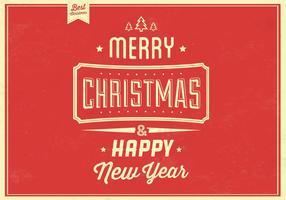 Retro-christmas-vector-background
