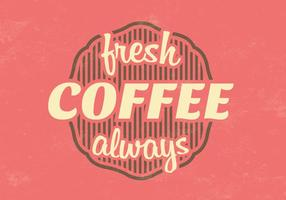 Vintage Fresh Coffee Vector Background