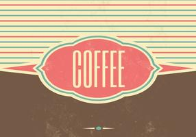 Retro Coffee Vector Background