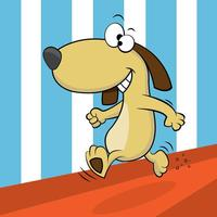 Hond Cartoon Vector