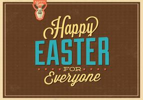 Happy Easter for Everyone Vector Background