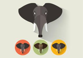 Elephant-portraits-vector