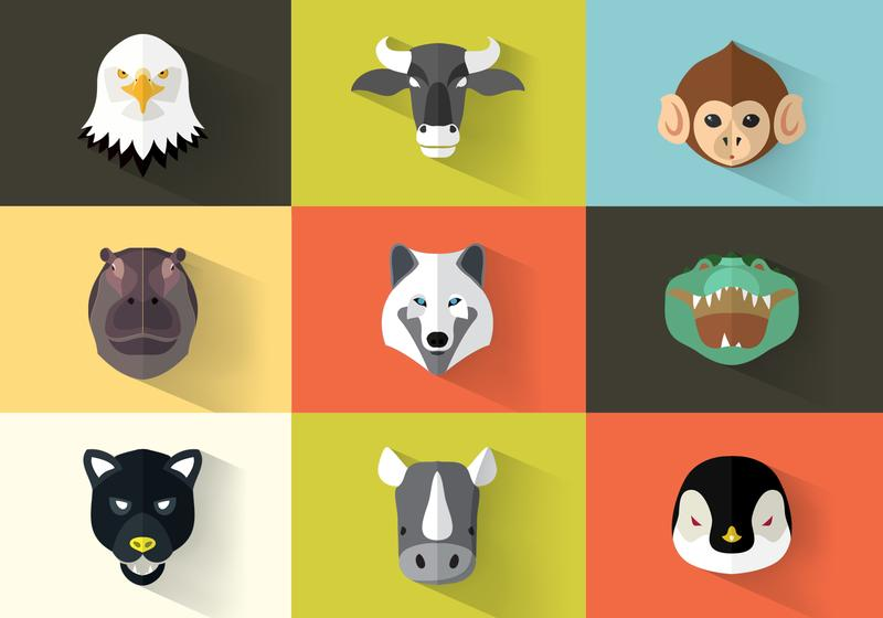 Flat Animal Icon Pack Vector - Download Free Vector Art, Stock ...