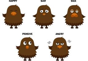 Eagle Emoticons Vector