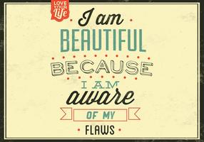 I-am-beautiful-vector-background