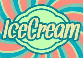 Sunburst Ice Cream Vector Background