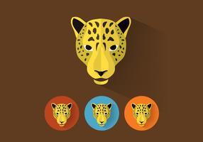 Portraits de vecteurs léopard