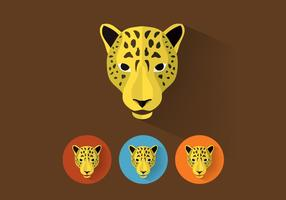 Leopardvektorporträtt