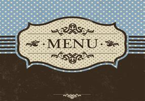Blue Menu Vector Sjabloon