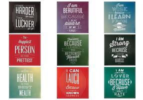 Motivational Citat Vector Bakgrund Pack