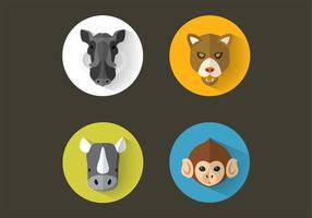 Vector animal retratos pack