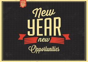 Vintage New Year Vector Background