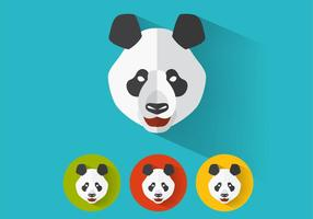 Panda-vector-portraits