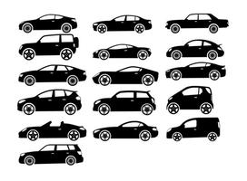 16 Cars Vector Set