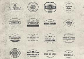 16 Vintage Badges Vector Collection