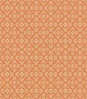 Tangerine Floral Vector Pattern
