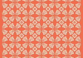 Orange Floral Vector Mönster Två
