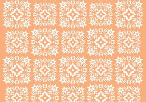 Retro Orange Ornament Vector Mönster