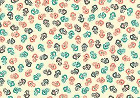 Retro Floral Vector Background