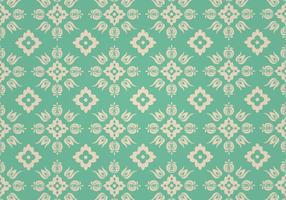 Green Floral Vector Pattern