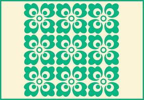 Groen Ornament Vector Patroon Twee