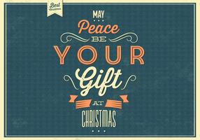 Christmas Peace Vector Background