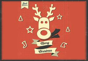 Merry Christmas Reindeer Vector Background