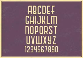 Retro Alphabet Vector Set