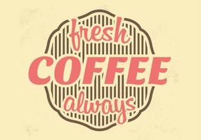 Fresh Coffee Vector Background