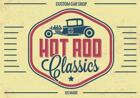 Vintage Hot Rod Vector de fondo