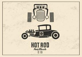 Retro Hot Rod Vector de fondo