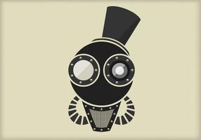 Steampunk Vector retrato dos